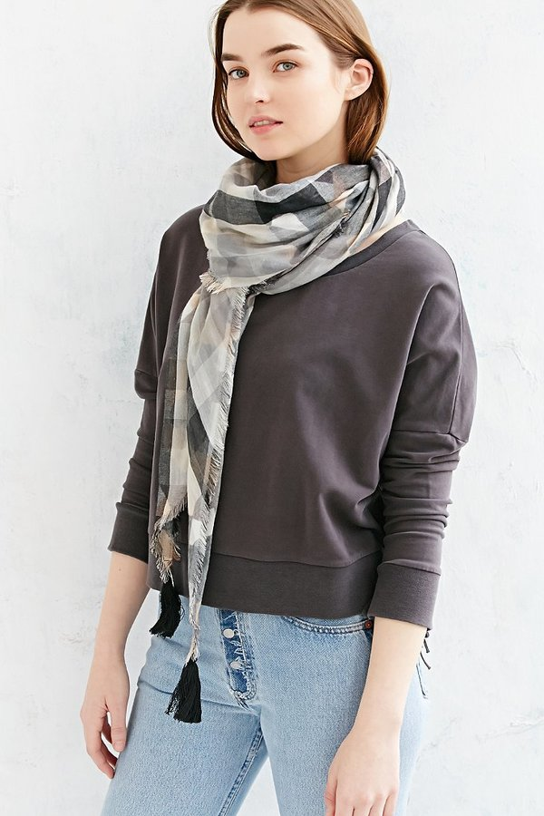 d4c762e3 Urban Outfitters Ecote Duo Plaid Scarf, $34 | Urban Outfitters ...