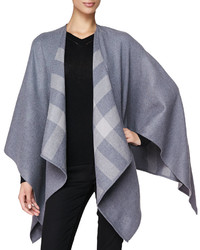 Check lined merino wrap medium 215743
