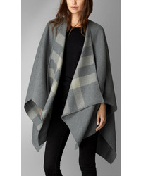Check lined wool wrap medium 215744