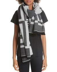 Givenchy Optical 4g Jacquard Wool Cashmere Scarf
