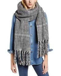 Plaid brushed wool blanket scarf medium 8808381
