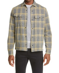 Z Zegna Plaid Jersey Shirt Jacket