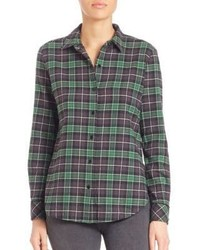 Elizabeth and James Cotton Button Down Plaid Shirt