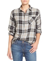 Current/Elliott The Prep Plaid Cotton Shirt
