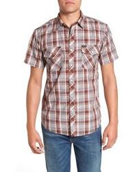 Grey Plaid Short Sleeve Shirt