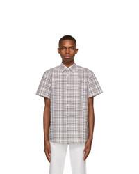 Ermenegildo Zegna Multicolor Check Crepe Short Sleeve Shirt