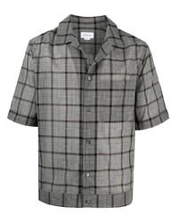 Brioni Plaid Check Print Shirt
