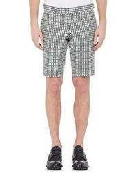 Thom Browne Plaid Shorts Grey