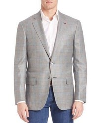 Isaia Plaid Cashmere Silk Sportcoat
