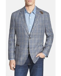 Kroon The Edge Classic Fit Plaid Silk Sport Coat