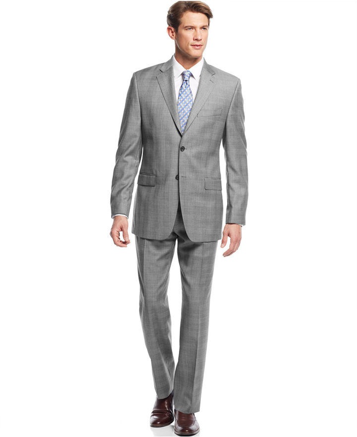 Lauren Ralph Lauren Black White Glen Plaid Slim Fit Suit | Where ...