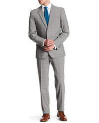 English Laundry Grey Glen Plaid Two Button Notch Lapel Suit