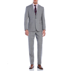 Kenneth Cole Grey Plaid Travel Suit