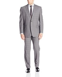 Calvin Klein Malik Regular Fit Two Button Plaid Suit
