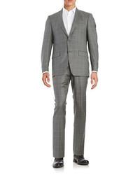 Michael Kors Michl Kors Plaid Two Button Wool Suit