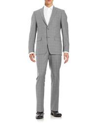 Michael Kors Michl Kors Slim Fit Plaid Wool Suit