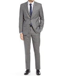 Hart Schaffner Marx New York Plaid Windowpane Plaid Suit