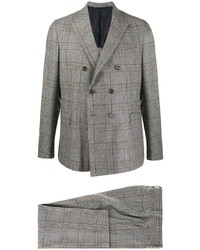 Eleventy Plaid Print Suit