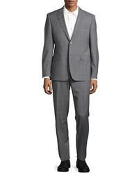 Lauren Silver Plaid Wool Suit Set