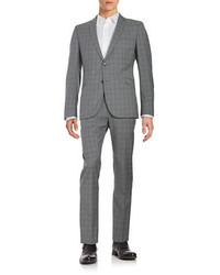 Strellson Plaid Wool Suit Set