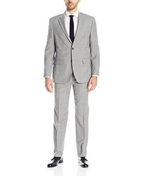 Tommy Hilfiger Stretch Performance Grey Plaid Suit