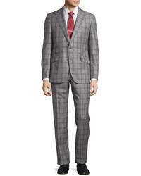 Robert Graham Two Piece Plaid Suit Gray