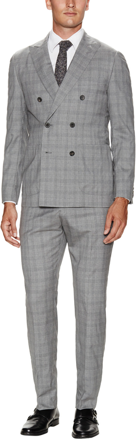 Wool Plaid Double Breasted Suit | Where to buy & how to wear