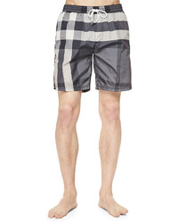 Check print swim trunks gray medium 605758