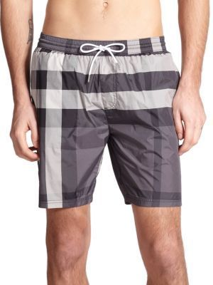 23214c805a Burberry Gowers Checked Swim Trunks, $295 | Saks Fifth Avenue ...