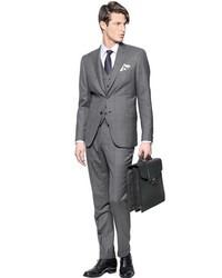 Brioni Bracciano Woolsilk 3 Pieces Check Suit