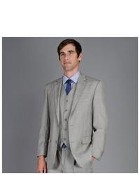 Giorgio Fiorelli Grey Plaid 3 Piece Suit
