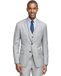 Brooks Brothers Milano Fit Windowpane Three Piece 1818 Suit