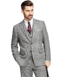 Brooks Brothers Regent Fit Three Piece Flannel Plaid 1818 Suit