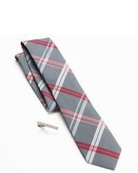 Apt. 9 Andros Plaid Skinny Tie Tie Bar Set