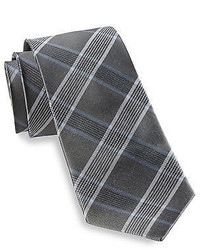 Rochester Stripe Plaid Silk Tie Casual Male Xl Big Tall