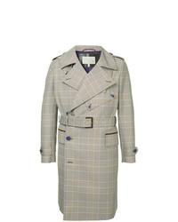 Grey Plaid Trenchcoat