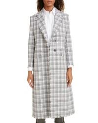 Thom Browne Fray Tweed Coat