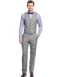 Ryan Seacrest Distinction Black White Glen Plaid Vest