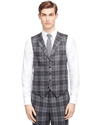 Brooks brothers plaid vest medium 337561