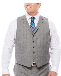 Collection Collection By Michl Strahan Plaid Suit Vest Big Tall