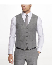 Express Plaid Suit Vest
