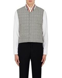Thom Browne Glen Plaid Down Quilted Vest Grey Size 2