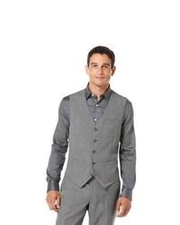 Perry Ellis Plaid Suit Vest