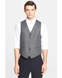 John Varvatos Star Usa By Plaid Wool Vest