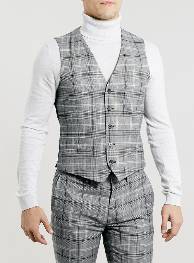 Light Grey Check Suit Dress Yy