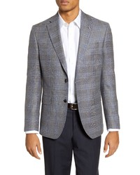 Ted Baker London Fit Plaid Wool Blend Sport Coat