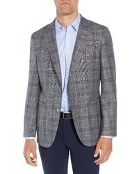 BOSS Fit Plaid Wool Blend Sport Coat