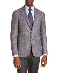 Canali Fit Plaid Wool Blend Sport Coat