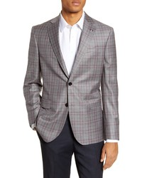 Ted Baker London Fit Plaid Wool Sport Coat