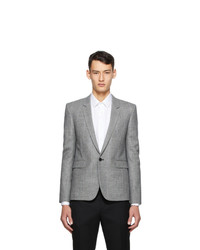 Saint Laurent Grey Wool Short Blazer